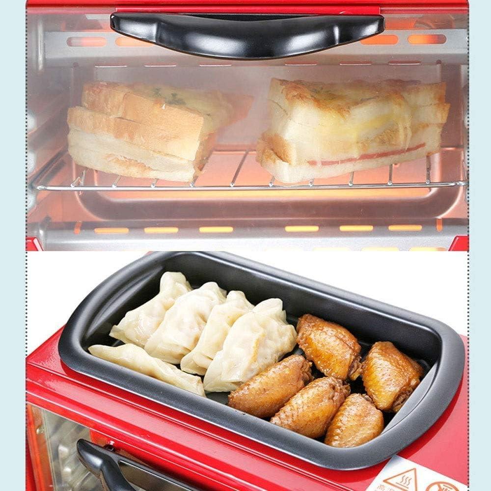 JLGL mini-four électrique - multifonction trois-en-un petit déjeuner intelligent grille-pain, grille-pain (noir),rouge Rouge