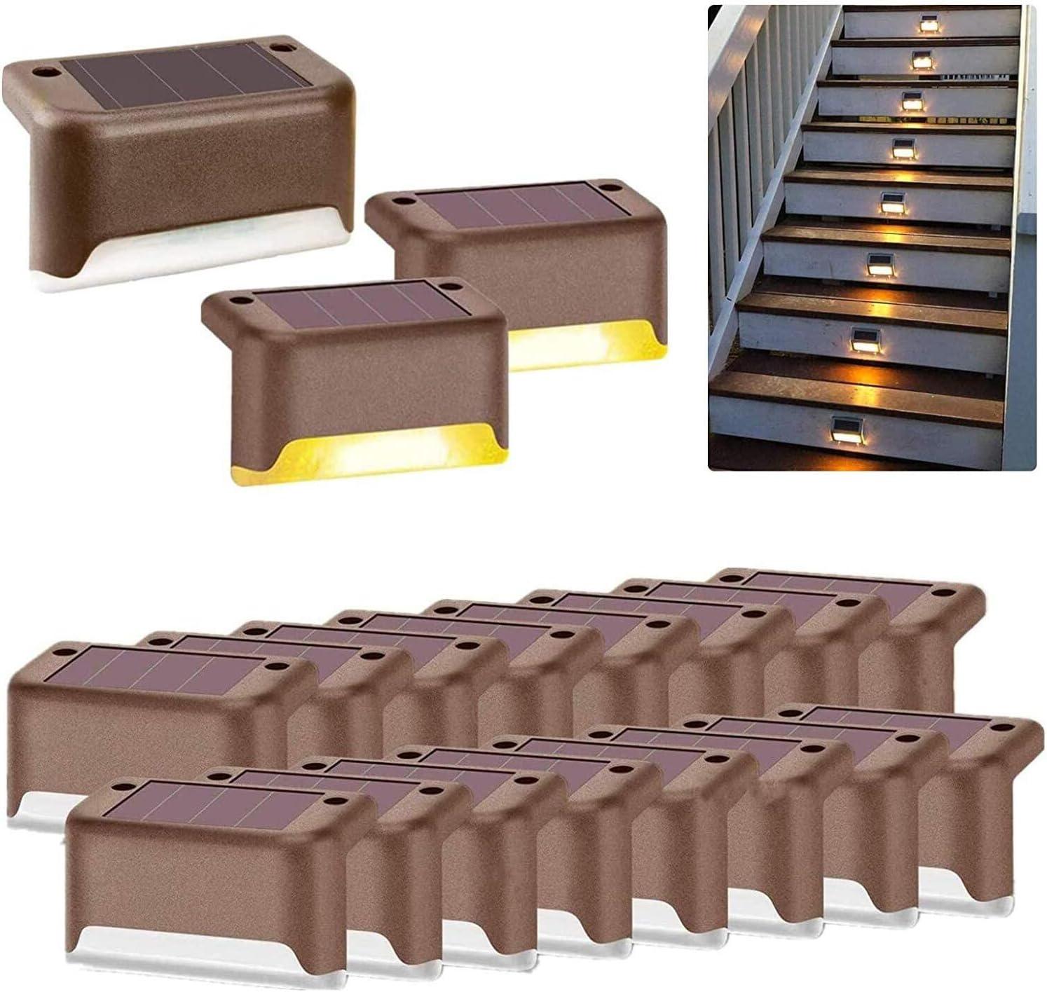 Beinhome Save money Solar Deck Lights Outdoor 16 Pack Waterproo Max 70% OFF Step