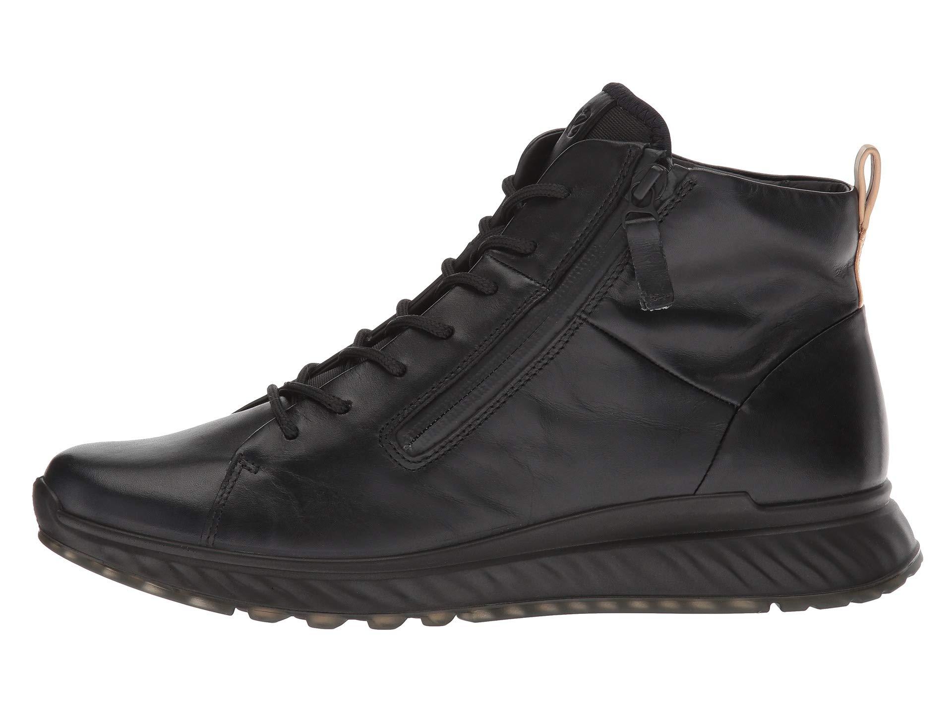 High Top Leather Calf Ecco St1 Black 8xq5wq0F