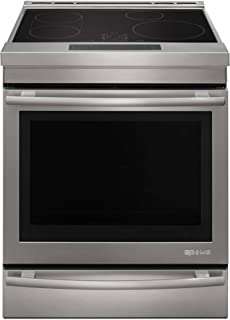 """Jenn-Air JIS1450DS 30"""" Induction Electric Range with 7.1 cu. ft. Capacity Baking Drawer True Convection Aqualift Self Cleaning Technology Sensor Boil and Melt Function in Stainless"""