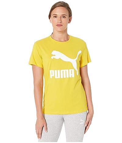 PUMA Classics Logo Tee (Sulphur) Women
