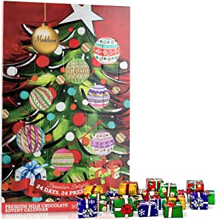 Madelaine Chocolate Christmas Tree 2019 Countdown Advent Calendar, Filled with (8 oz - 226 g) Solid Premium Milk Chocolate Presents (1 Pack)