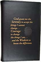 Culver Enterprises Alcoholics Anonymous AA Big Book LARGE PRINT Cover Serenity Prayer Medallion Holder BLACK