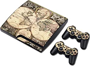 Decal skin cover Sticker vinyl pvc For Playstation 3 Slim console and controllers for PS3 slim,0209