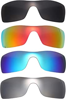 NicelyFit 4 Pairs Polarized Replacement Lenses for Oakley Batwolf Sunglasses