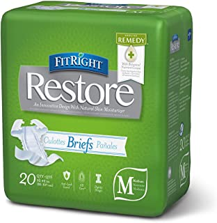 FitRight Restore Adult Briefs with Tabs, Heavy Absorbency, Medium, 32