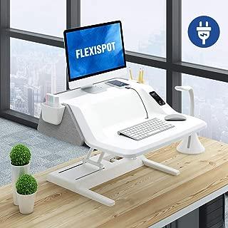 FlexiSpot Sit Stand Smart Workstation EM6S - 27 Inch Motorized Height Adjustable Stand up Desk Riser