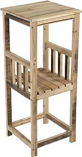 Nature by Kolibri - Mesa para jardinería con 1 estante de madera tamaño mediano 81 x 32 x 32 cm