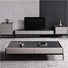 Living Room Locker Simple Rock Board Coffee Table TV Cabinet Combination Simple Modern Living Room Home Floor Cabinet Anna...