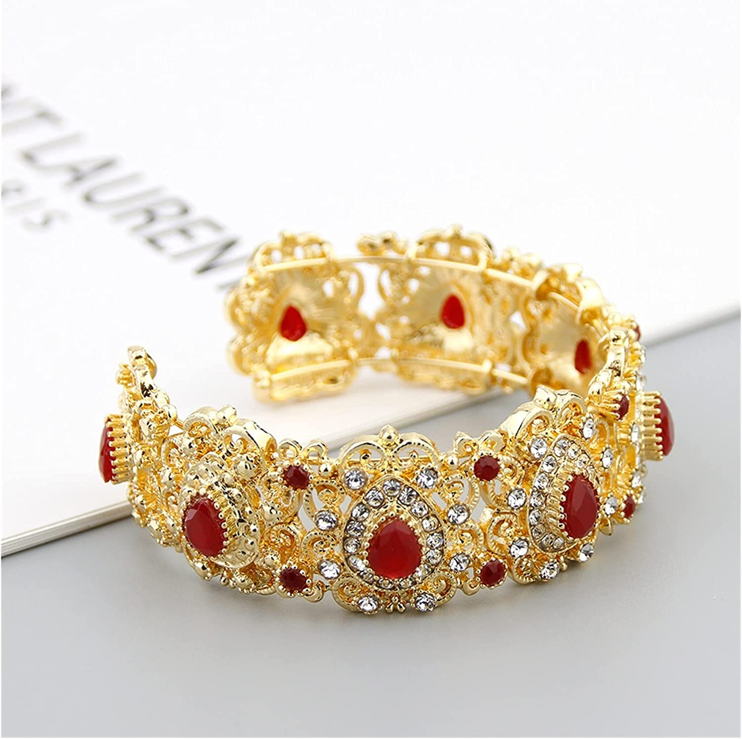 zhongbao Morocco Golden Bangle A surprise price is Free Shipping New realized Cuff C-Shaped Bracelet for Women