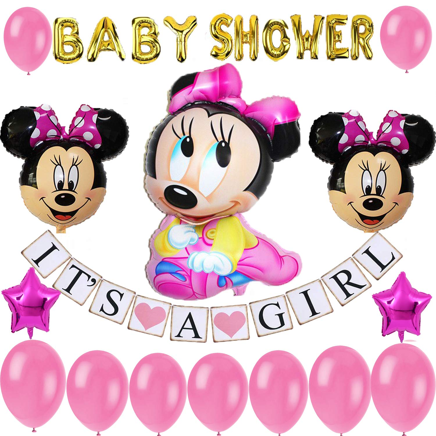 Minnie Mouse Baby Shower Decoration Packages  from m.media-amazon.com
