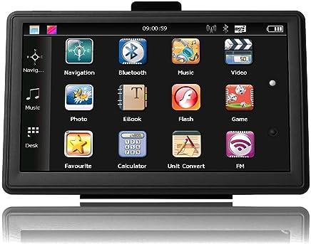 """Navigatore satellitare ad alta luminosità, touchscreen 5"""", con 8 GB di memoria, con mappe preinstallate del Regno Unito e dell'Europa in continuo aggiornamento"""