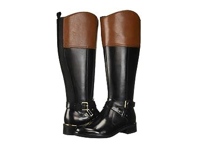 Bandolino Jimani Wide Calf (Black/Luggage/Black) Women