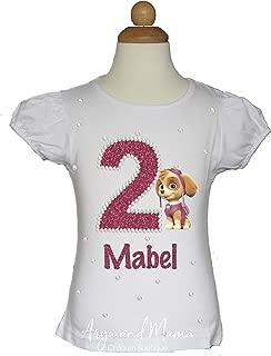 Paw Patrol Girl Skye Inspired Birthday Shirt Handmade