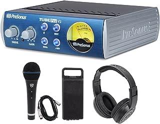 Presonus TubePre V2 Vacuum Tube Preamp+DI Direct Box+Microphone + Speaker
