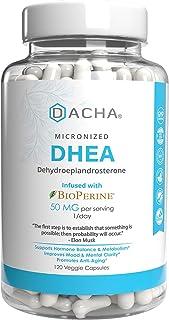 Premium DHEA 50mg 120 Capsules – Micronized Hypoallergenic, Enhanced with Bioperine Estrogen Hormone Balanc...