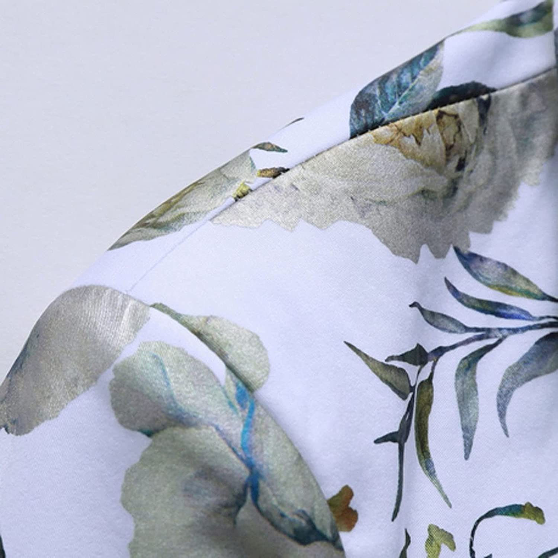 Men's Casual Business Wedding Long Sleeve Print Floral Suit Coat Jacket Sportswear Moisture-Wicking Long-Sleeve