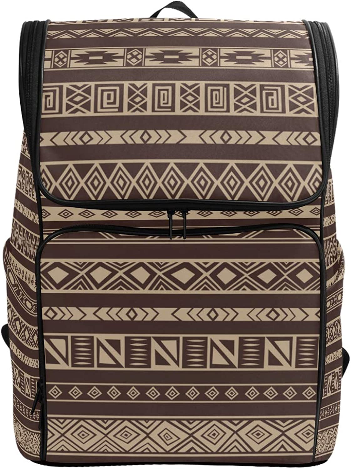 FANTAZIO African Rug Pattern Laptop Outdoor Backpack Travel Hiking Camping Rucksack Pack, Casual Large College School Daypack