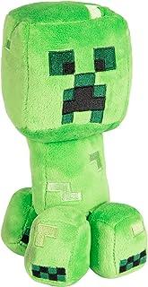 """JINX Minecraft Happy Explorer Creeper Plush Stuffed Toy, Green, 7"""" Tall"""