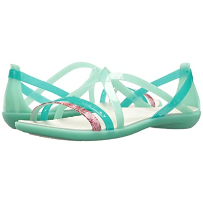 Crocs Isabella Cut Graphic Strappy Sandal (New Mint/Oyster) Women