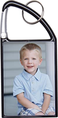 Amazon.com: 2 x 3, acrílico Snap-In Foto Keychains, Plástico ...