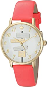 Kate Spade Women's Quartz Watch, Analog Display and Leather Strap KSW1127