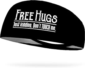 "Bondi Band Free Hugs Just Kidding Don't Touch Me 4"" Moisture Wicking Headband"