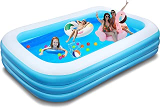 """TOOAVIL Inflatable Swimming Pools, Blow up Kiddie Pool for Family, Garden, Outdoor, Backyard, 82"""" X 59"""" X 24"""", with 5-Pack..."""