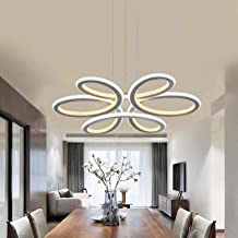 Modern LED Pendant Island Light Indoor Acrylic Chandelier Hanging Lamp Dimmable Ceiling Lighting Fixture Height Adjustable...