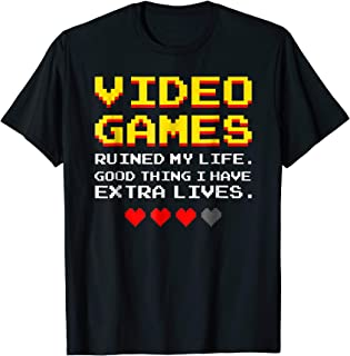 Video Games Ruined My Life Funny Gamer Gaming Gift T-Shirt