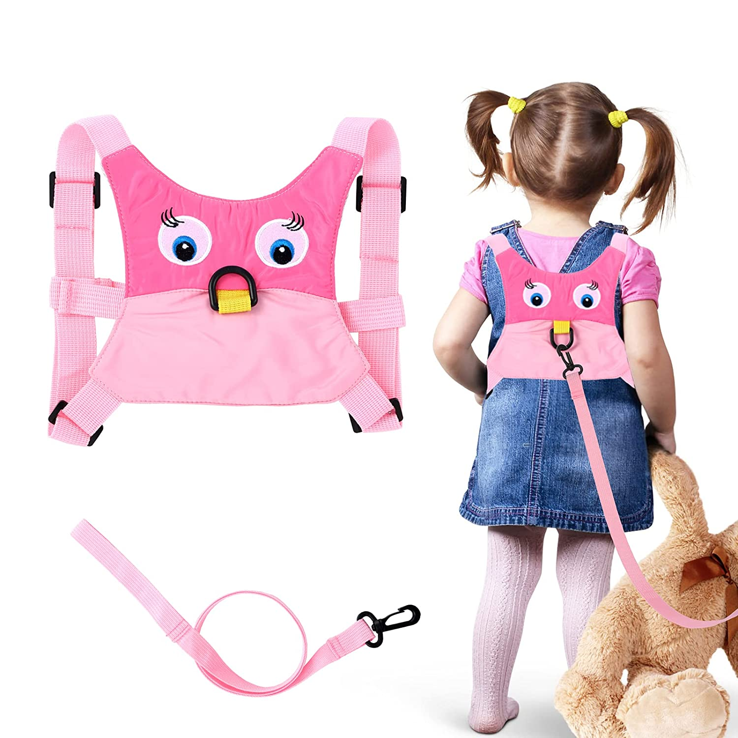 Baby Anti Lost Safety Walking Harness Toddler Safety Leash for Babies & Kids Boys and Girls(Pink)
