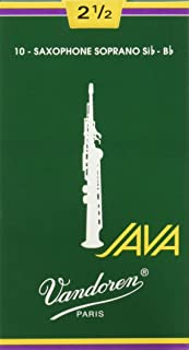 Vandoren SR3025 Soprano Sax JAVA Reeds Strength 2.5; Box of 10