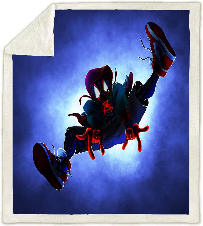 3D per bambini motivo animato Coperta Spiderman in flanella WTTING 100 x 140 cm