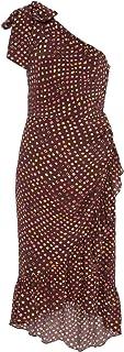 Ulla Johnson Womens Imogen One Shoulder Dress Earth 0