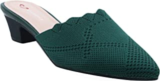 Shuberry SB-19051 Latest Footwear Collection, Comfortable & Fashionable Fabric Black, Green & Yellow Colour Sandal for Women & Girls