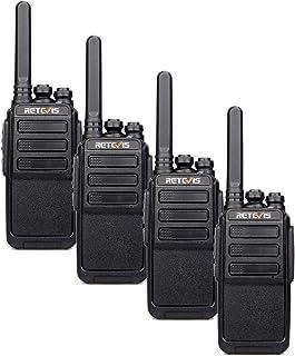 Retevis RT28 Walkie Talkie, PMR446 y 16 Canales, Walki Talki Portátil Recargable con Cable USB, VOX Squelch, Alarma de Eme...