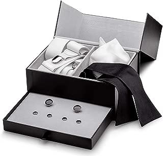 Tuxedo Set - Suspenders, Cuff Links & Studs, Bow Tie, Pocket Square & Box
