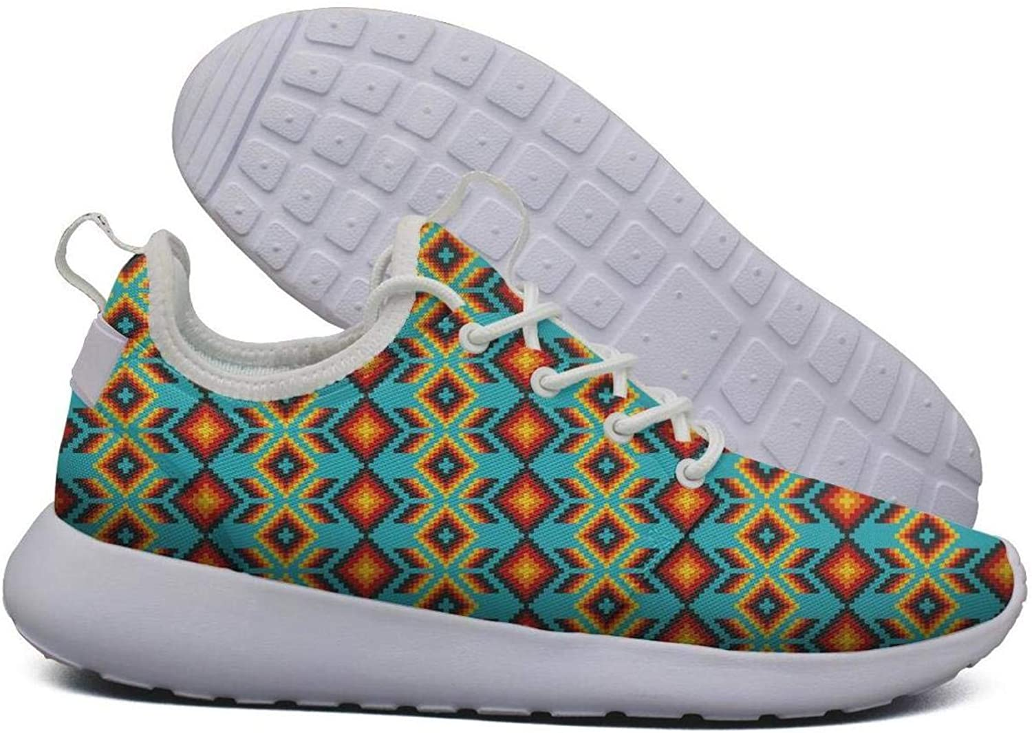 Unjdahsdd Mexican Huichol Geometric colorful Women's Hip hop Sneakers Lightweight Breathabl Boat shoes