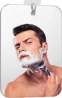 Espejo de ducha XoYo-Grande, sin niebla, incluye 1 gancho adhesivo, espejo de afeitar de ducha, espejo de ducha sin marco, espejo para colgar en la pared, 1 Pack, Large