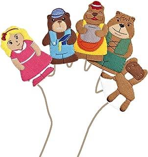 Goldilocks & the Three Bears Felt Finger Puppet Set (5 Finger Puppets)