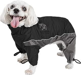 touchdog Quantum-Ice Full-Bodied Adjustable and 3M Reflective Dog Jacket w/Blackshark Technology