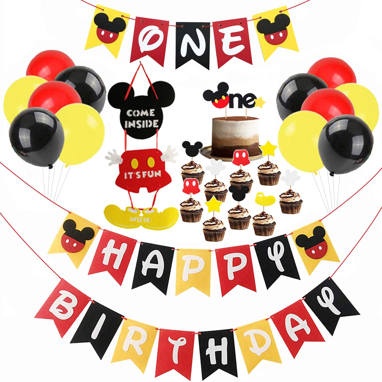 Fine Mickey Mouse First Birthday Decorations Mickey Mouse Happy Personalised Birthday Cards Petedlily Jamesorg