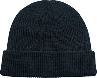 (コネクタイル)Connectyle ユニセックス メンズ リブ ニット帽子 秋冬 ニットキャップ 折り返し 無地 ワッチキャップ