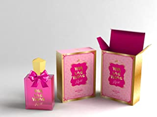 New Women Viva Las Vegas Rose, Fragrance Inspired By Viva La Juicy - Eau De Parfum 3.4 Fl.Oz. / 100ML Mother and Wife Scent and Odor Spray