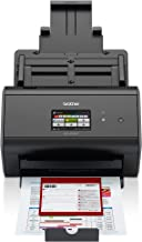 Brother ImageCenter ADS-2800W Wireless Document Scanner, Multi-Page Scanning, Color Touchscreen, Integrated Image Optimization, High-Precision Scanning, Continuous Scan Mode, Black (Renewed)