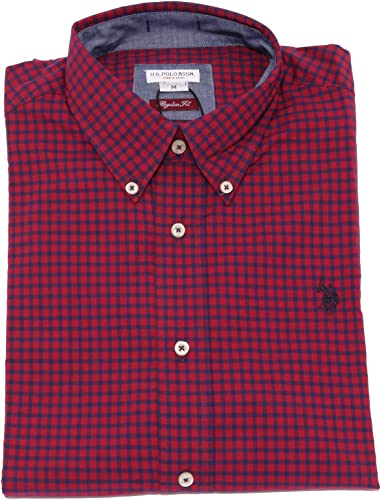 3752K Camicia hommes U.S. POLO ASSN. Regular FIT bleu rouge Shirt Cotton Man