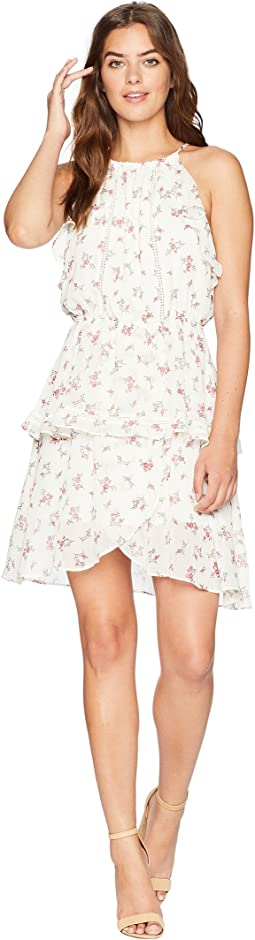 J.O.A. Ruched Neck Double Layered Dress