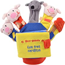 LOS 3 CERDITOS Y EL LOBO (libro guante con títeres de dedo) (Libros para bebés)