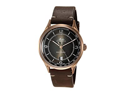 Mido 40 mm Multifort Patrimony Automatic Leather Strap M0404073606000 (Brown) Watches