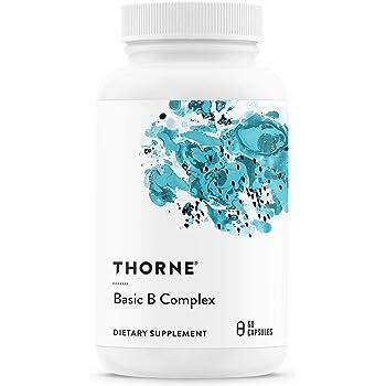 Thorne Research ベーシックBコンプレックス(活性型ビタミンB群サプリ)60カプセル [並行輸入品]